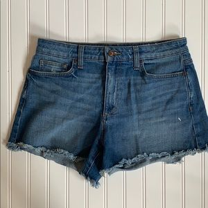 Joe's Jeans Rory high rise raw hem cut off shorts